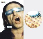 Bono - ciano: Bob Dylan, magenta: David Bowie, amarelo: Lou Reed, preto: Madre Teresa