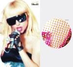 Britney Spears - ciano: Madonna, magenta: Freddie Mercury, amarelo: David Bowie, preto: Cyndi Lauper